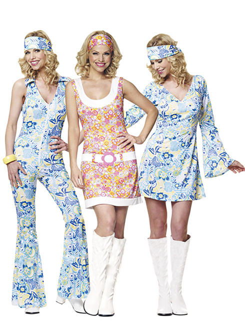 Ladies Flower Power GoGo Costume