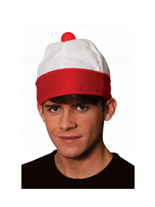 Men's & Ladies Where's Wally Costume Hat