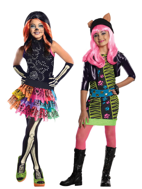girls licensed monster high costume howleen skelita halloween fancy