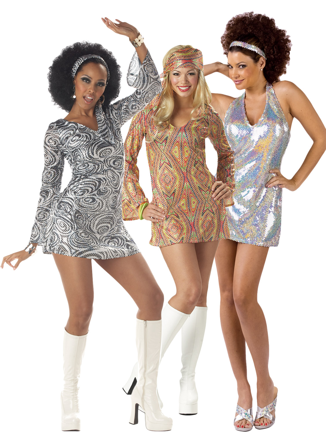 Transform Yourself Into A Shimmering Slinky Diva With These Fantastic Disco Inspired 1970 S Mini Dresses