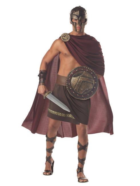 Men's Spartan Warrior Gladiator Costume