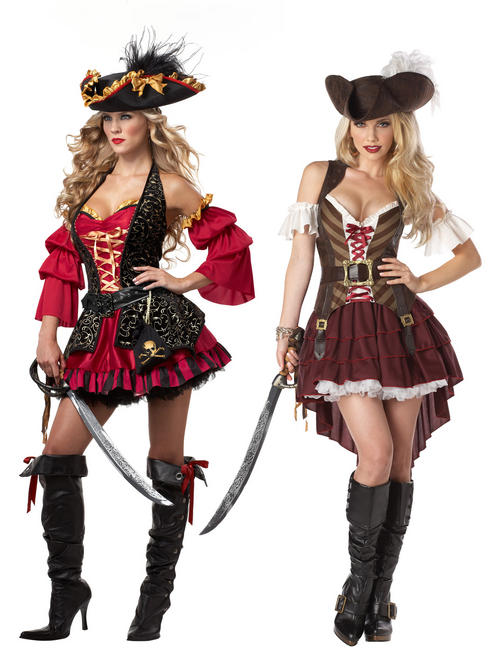 Ladies Sexy Swashbuckler Pirate Costume