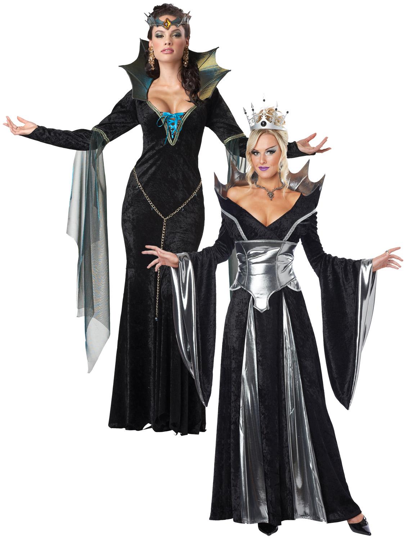 Ladies Sexy Evil Queen Sorceress Fairytale Womens Halloween Fancy Dress Costume. Image 2  sc 1 st  eBay & Ladies Sexy Evil Queen Sorceress Fairytale Womens Halloween Fancy ...