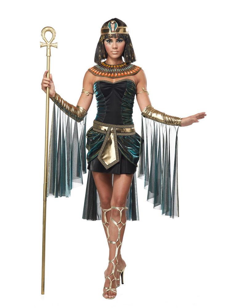 Ladies Short Egyptian Goddess Costume