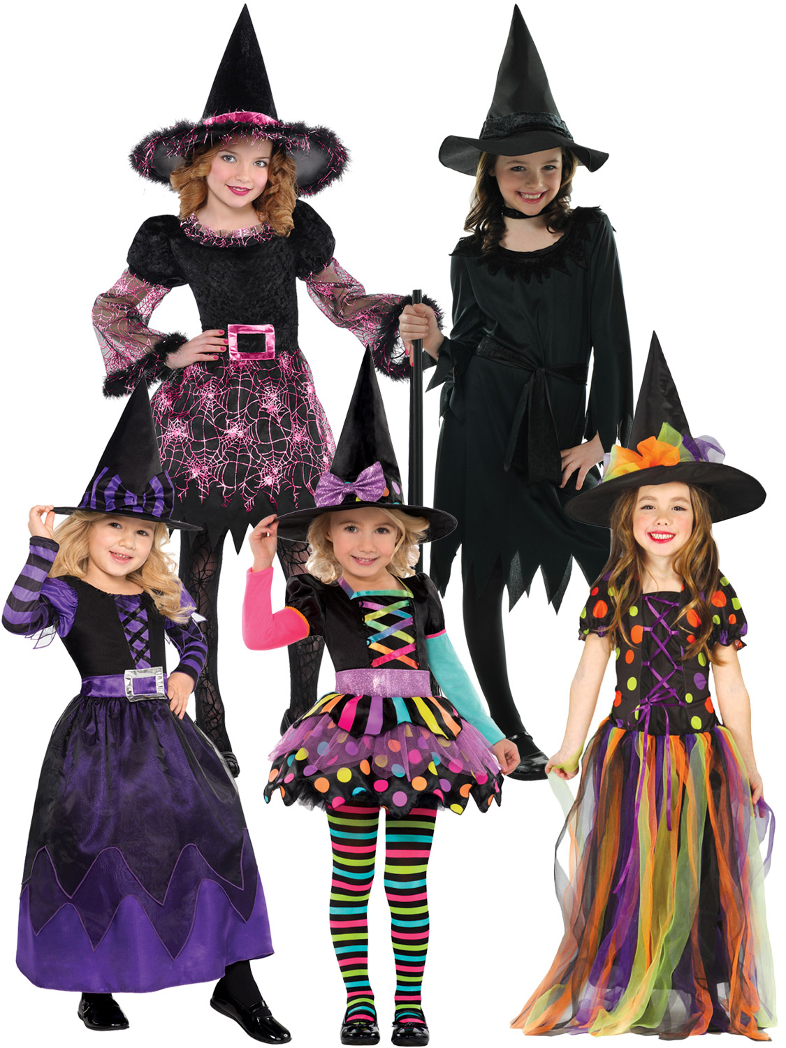 Girls Halloween Witch Costume Toddler Fancy Dress Outfit Childrens Party Witches. Image 2  sc 1 st  eBay & Girls Halloween Witch Costume Toddler Fancy Dress Outfit Childrens ...