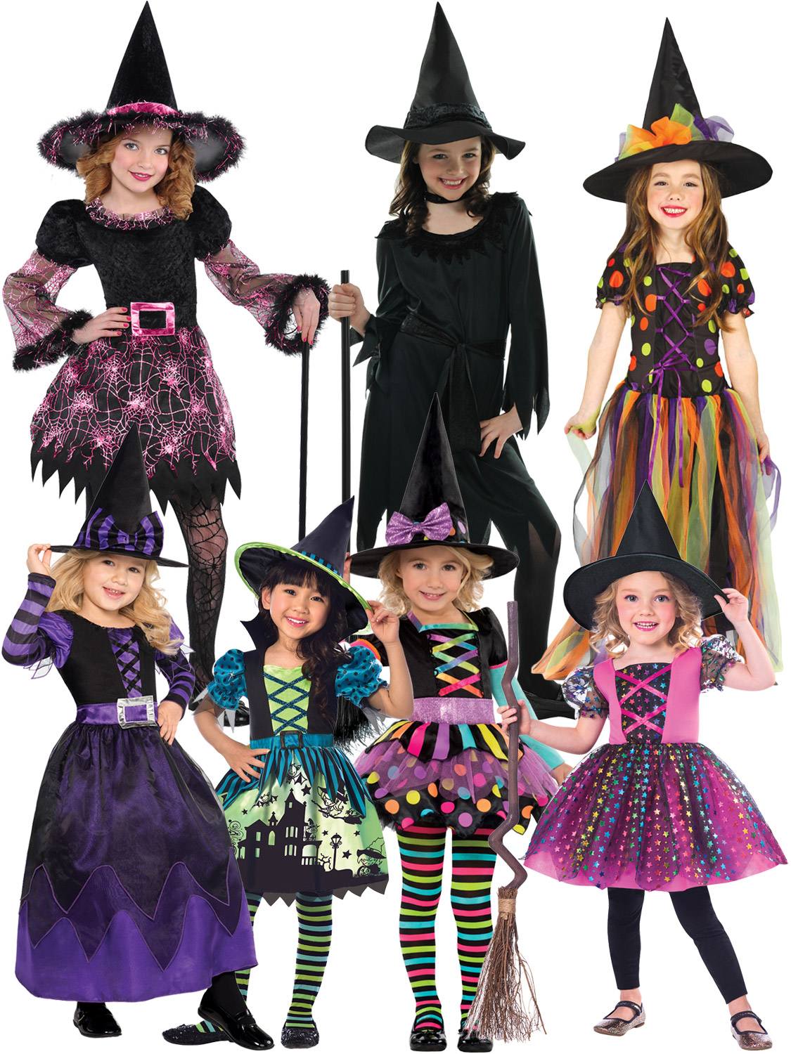 e323e7a85d28 Girls Halloween Witch Costume Toddler Fancy Dress Outfit Childrens ...