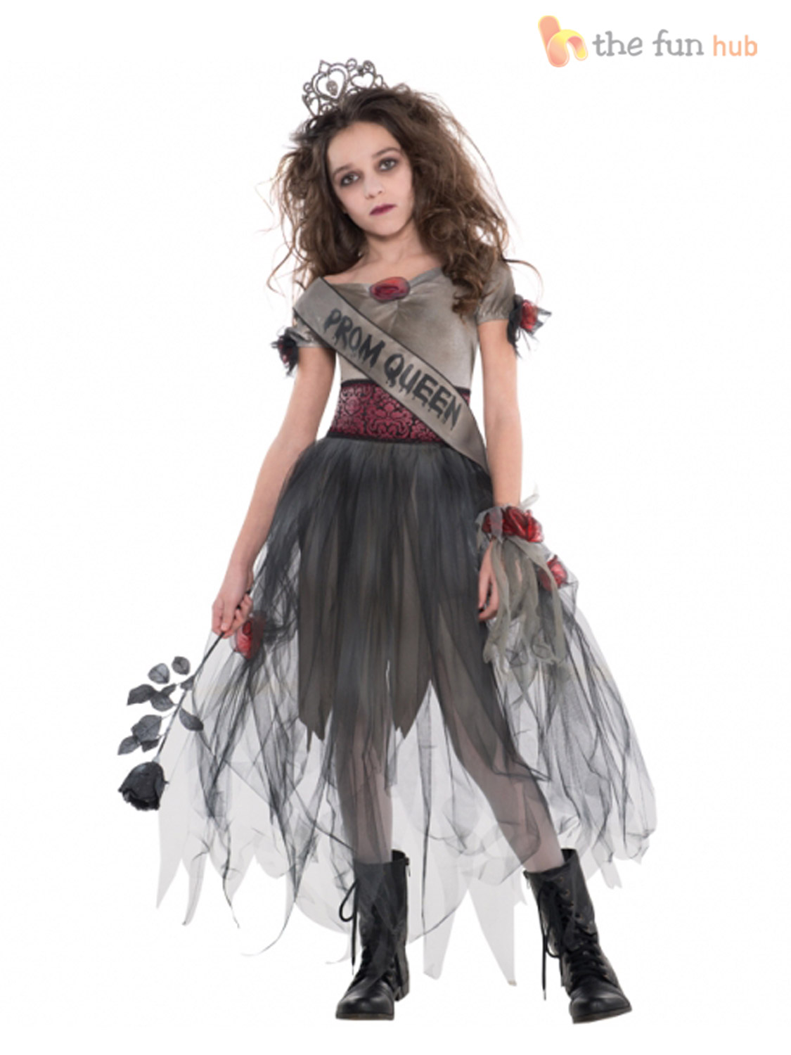 girls teen zombie prom queen costume age 12