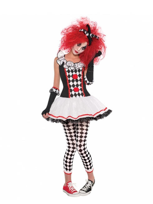 Girl's Teen Harlequin Honey Costume