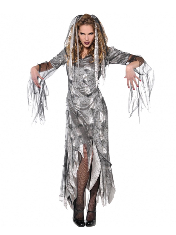 ladies graveyard zombie costume all halloween fancy dress hub. Black Bedroom Furniture Sets. Home Design Ideas