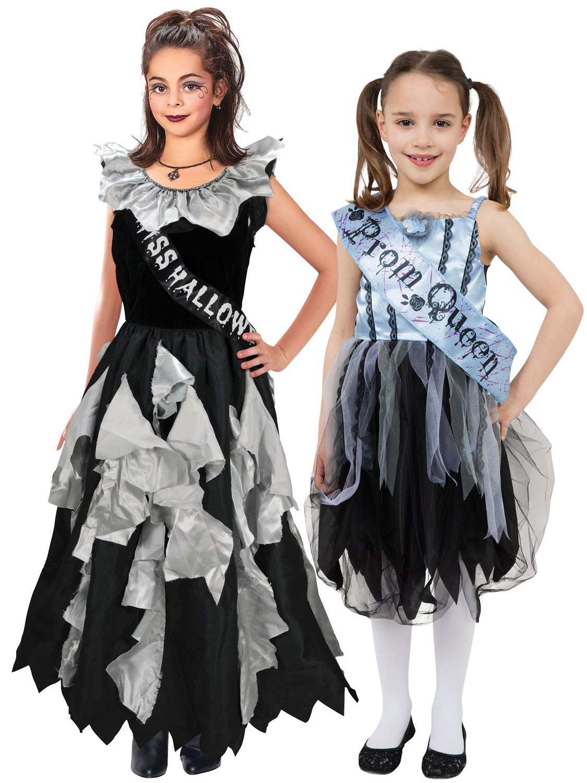 Girl\u0027s Zombie Prom Queen Costume