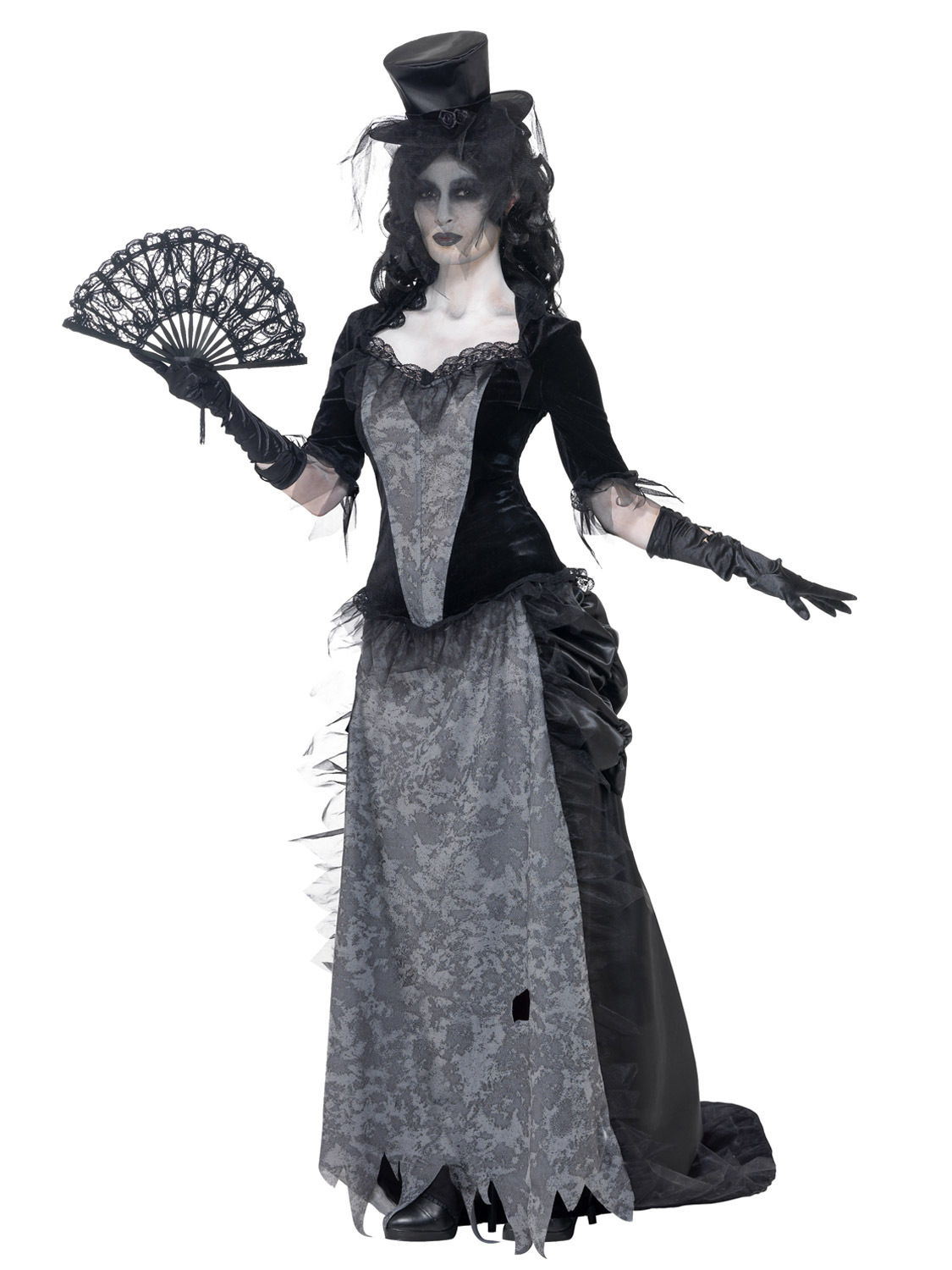 ladies zombie black widow bride costume victorian ladies halloween