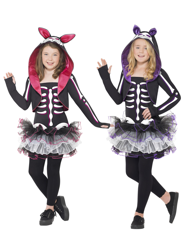 Skeleton Girl Tutu Dress Halloween Fancy Dress Costume All Ages