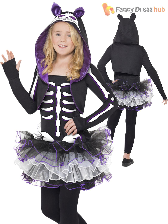 ... Picture 2 of 4 ...  sc 1 st  eBay & Skelly Cat Animal Skeleton Children Girls Smiffys Fancy Dress ...
