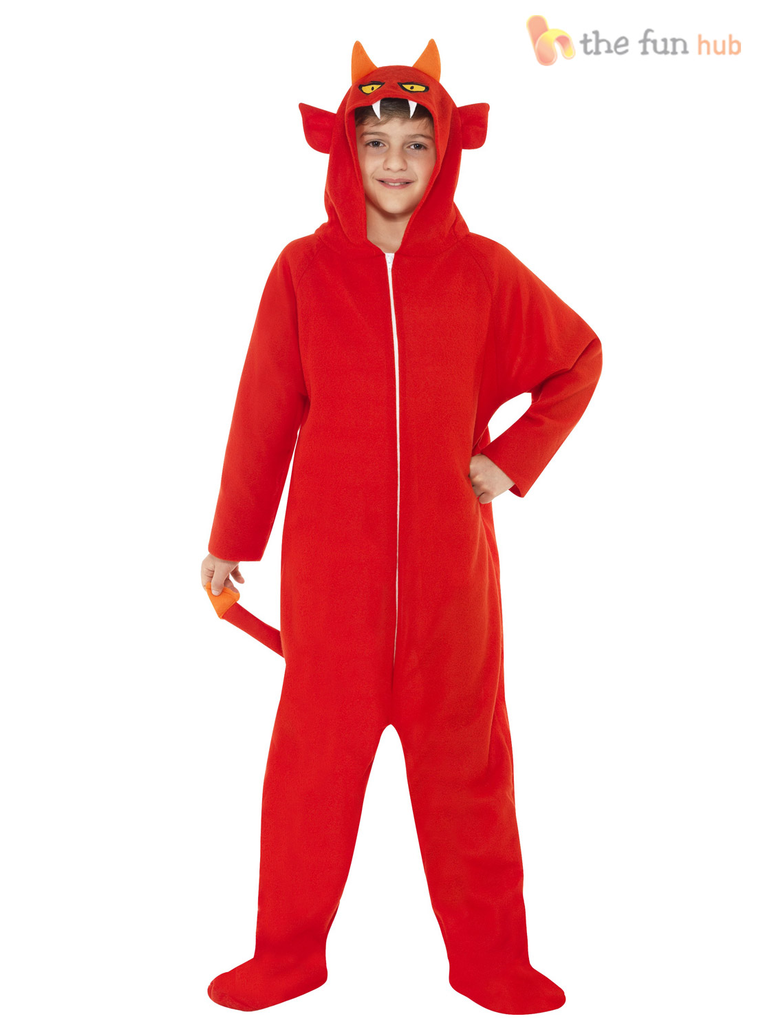 Boys-Halloween-Hooded-All-in-One-Fancy-Dress-Costume-Horror-Party-Outfit