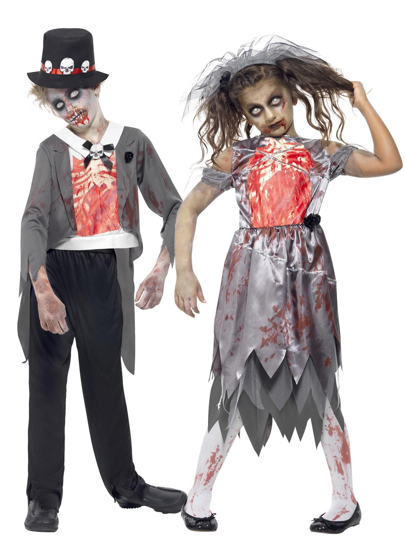 Girls Zombie Bride Boys Groom Costume