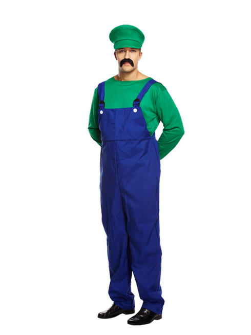 Men's Green Super Plumber Bros Overalls