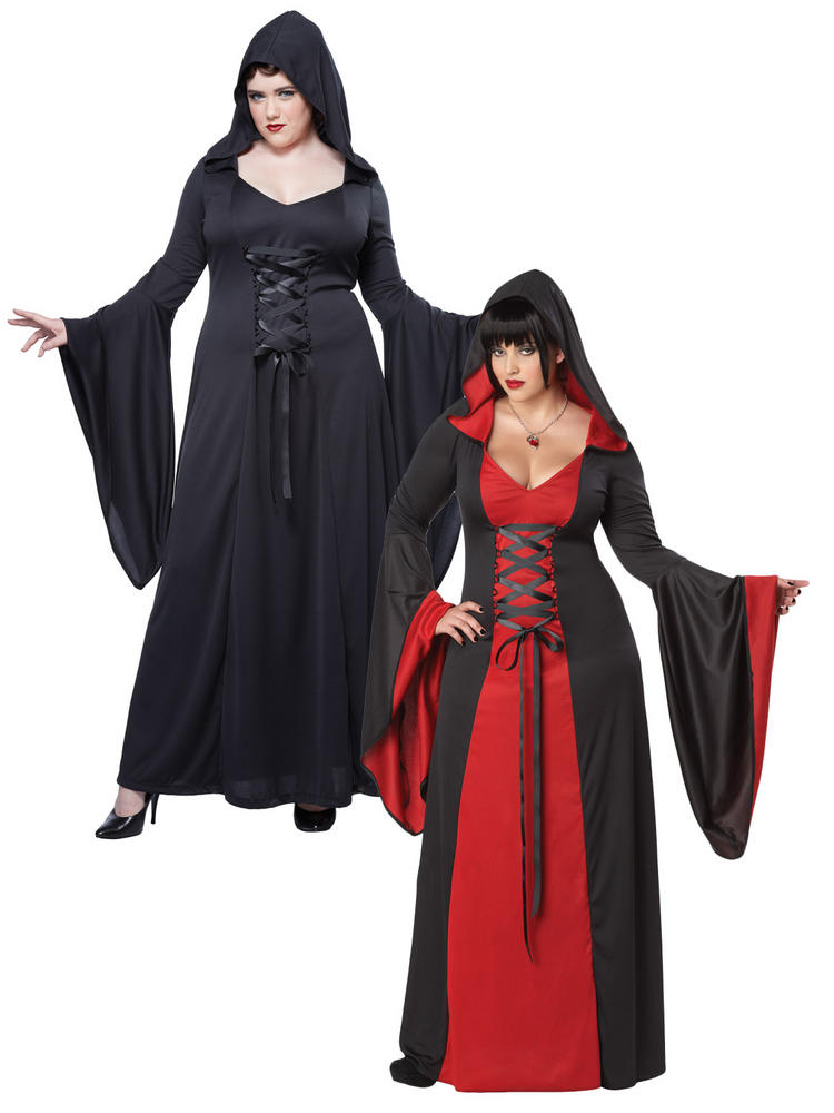 Ladies Deluxe Red Hooded Robe Costume