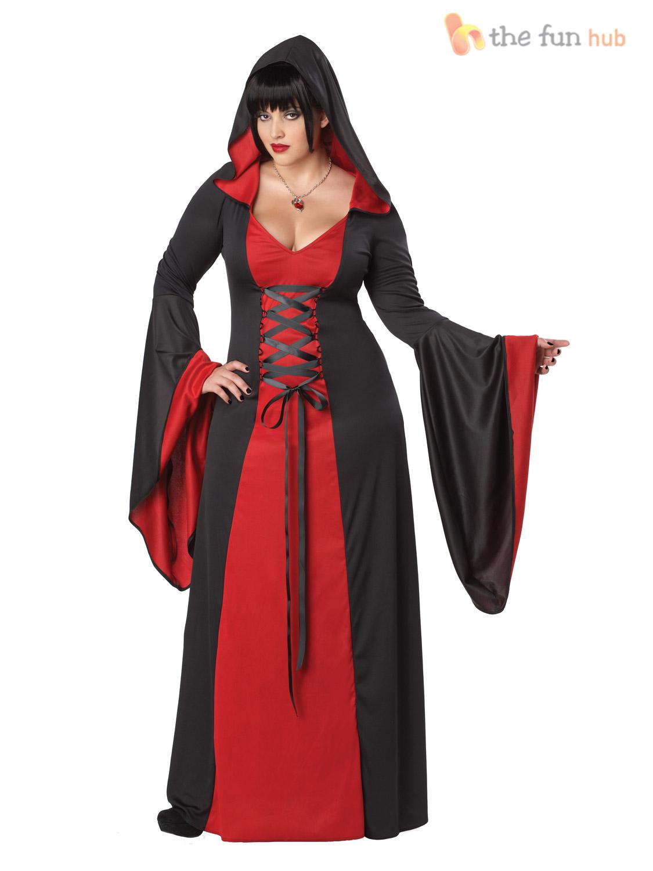 Size 16-20 Ladies Deluxe Sexy Vampire Costume Halloween Plus Size ... 1443a985f