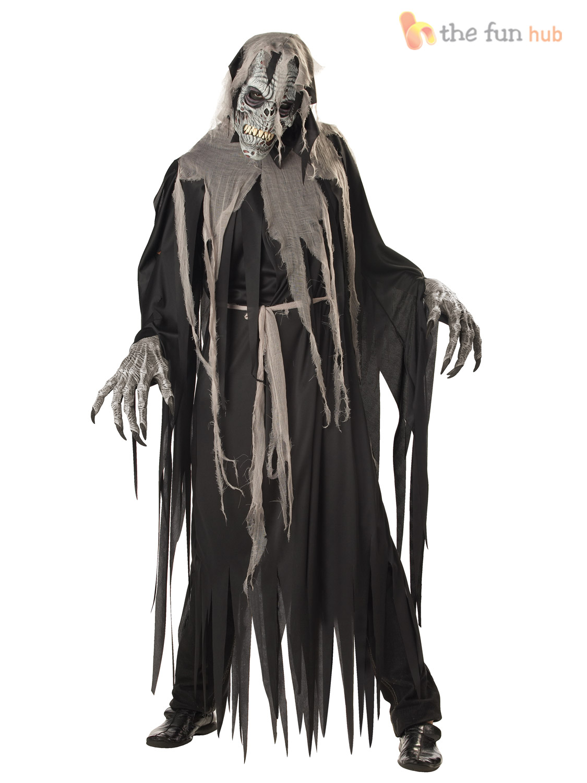 mens adult crypt crawler halloween ani motion mask fancy dress