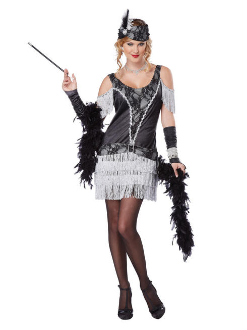 Ladies Razzle Dazzle Flapper Dress