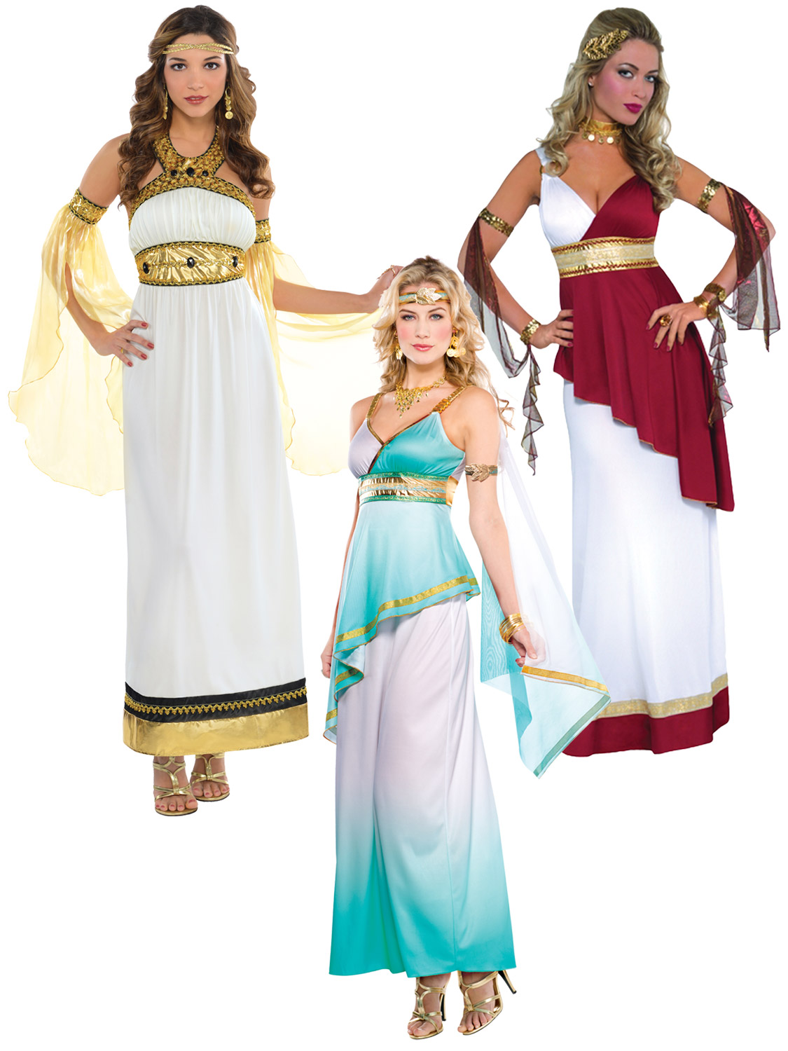 Ladies greek toga roman grecian goddess fancy dress womens costume transform yourself into athena the greek goddess of war in this stylish fancy dress costume solutioingenieria Gallery