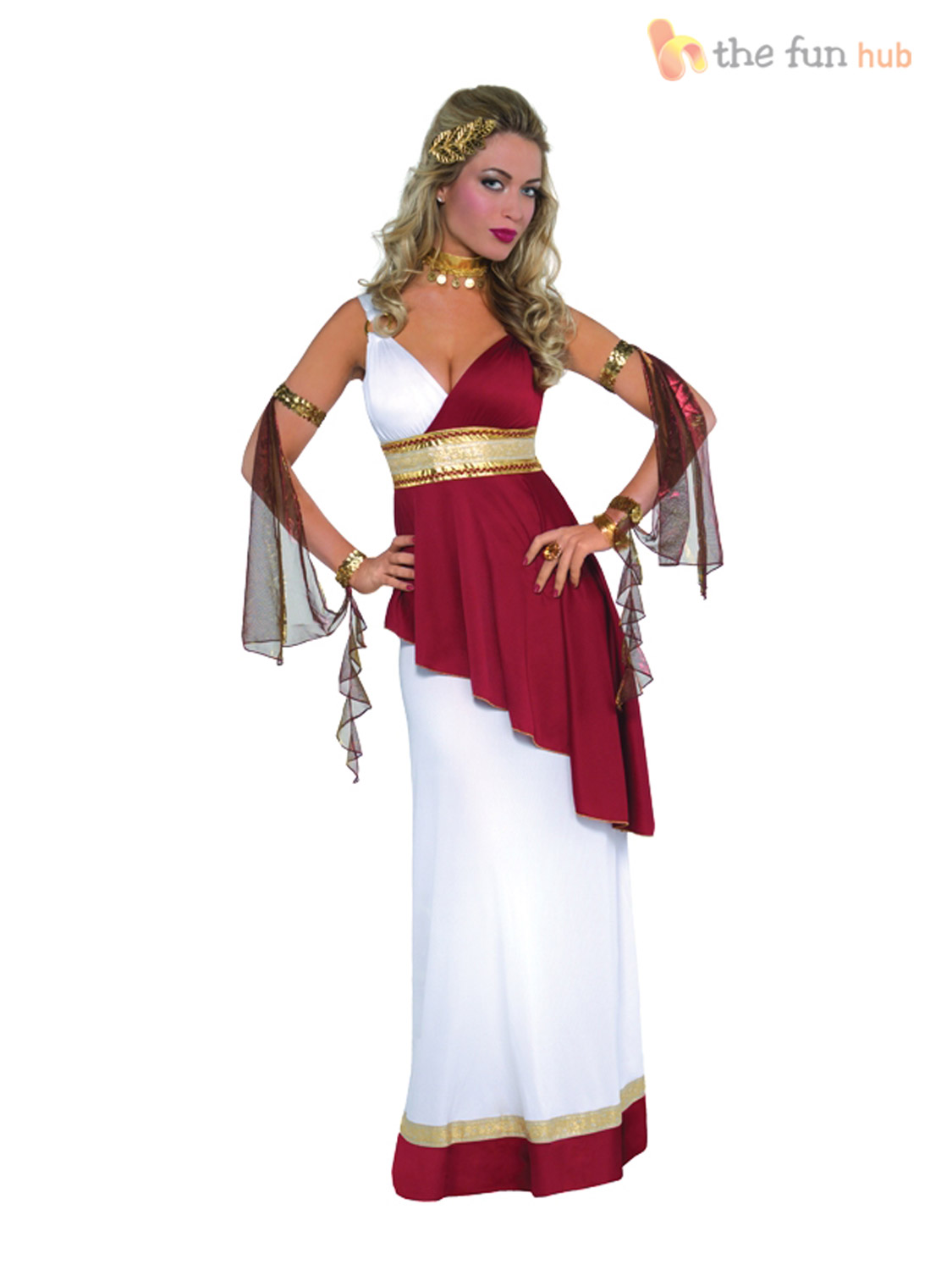 Ladies-Greek-Toga-Roman-Grecian-Goddess-Fancy-Dress-  sc 1 st  eBay & Ladies Greek Toga Roman Grecian Goddess Fancy Dress Womens Costume ...