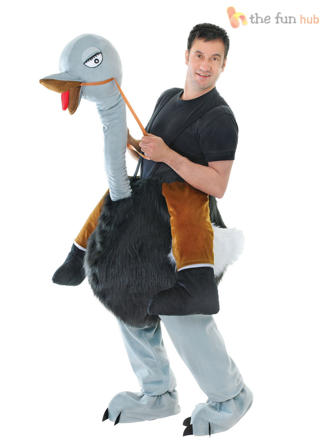 Deluxe-Adult-Step-In-Riding-Ride-On-Animal-  sc 1 st  eBay & Deluxe Adult Step In Riding Ride On Animal Costumes Funny Pantomine ...