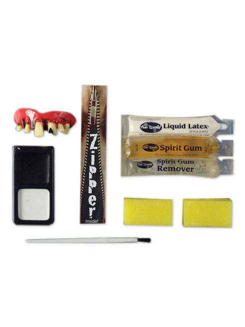 Deluxe Zombie Zipper Makeup Kit