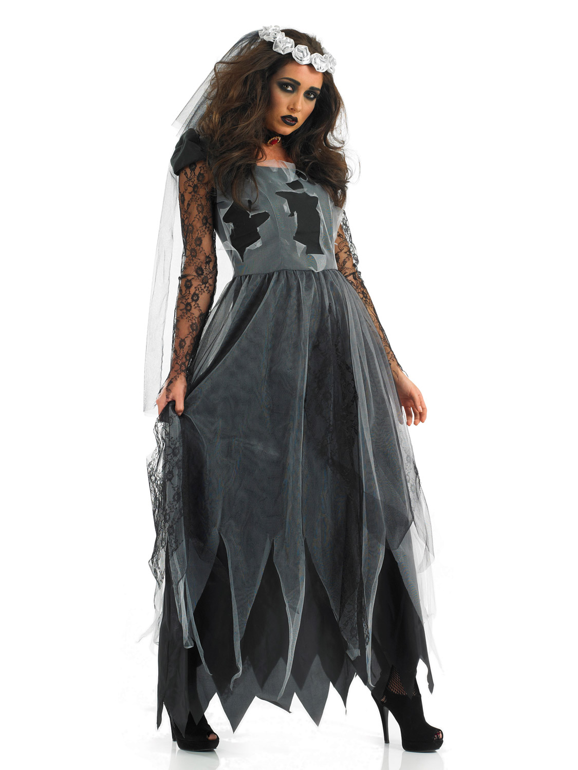 Costume Halloween Uk.Details About Ladies Corpse Bride Costume Halloween Fancy Dress Costume Gothic Adult Plus Size
