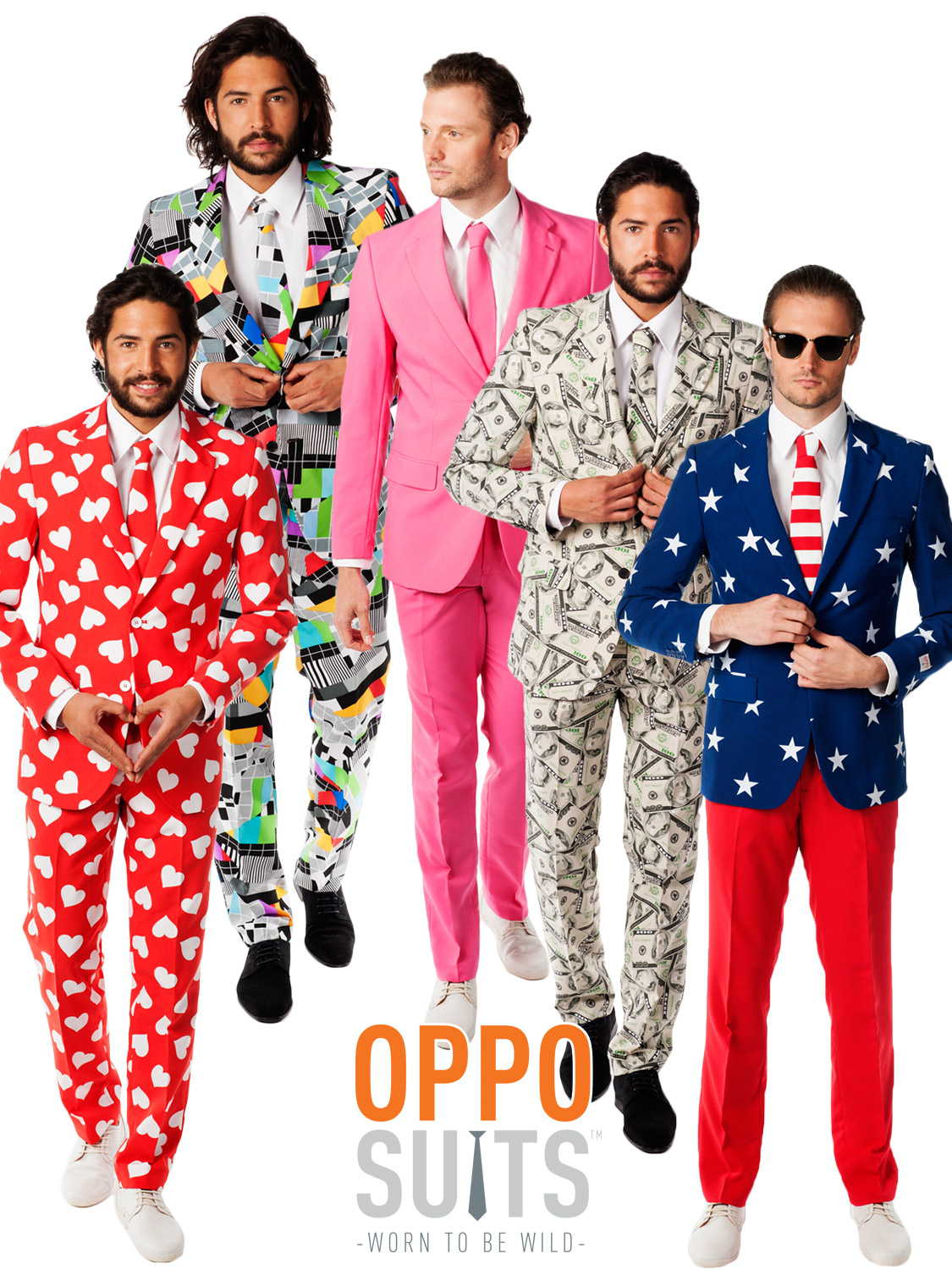 Mens Original Oppo Suits Stag Do Fancy Dress Outfit Party Mardi Gras ...