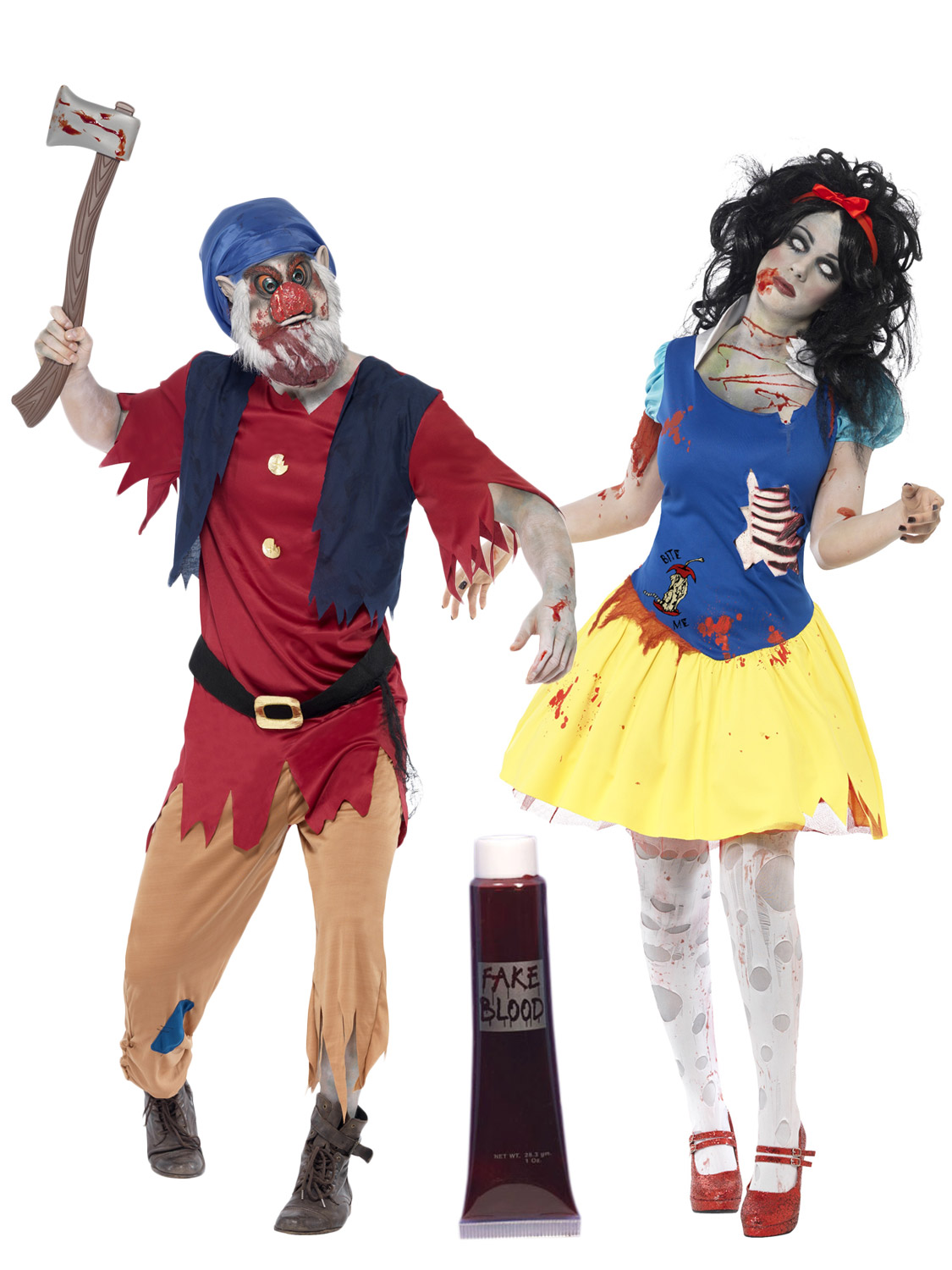 ... Halloween Fancy Dress Costumes Ladies Mens. Image 2  sc 1 st  eBay & Zombie Snow Fright + Dwarf Couples Halloween Fancy Dress Costumes ...