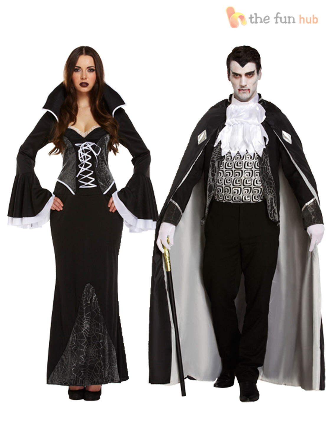 Mens-Ladies-V&ire-Costumes-Gothic-Dracula-Couples-Halloween-  sc 1 st  eBay : couples for halloween costumes  - Germanpascual.Com