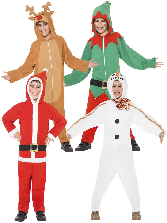 Boy's Santa Christmas Onesie | All Children | Fancy Dress Hub