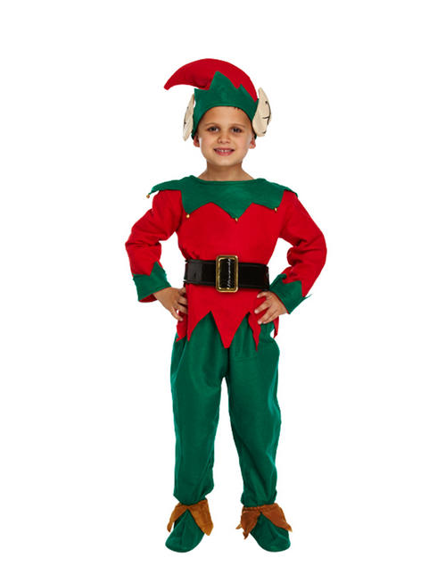 Kids Elf Santa's Helper Costume