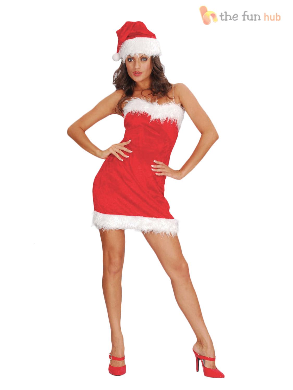 Disfraz-para-Adultos-Damas-Sexy-Miss-Santa-para-mujeres-Vestido-de-disfraz-conjunto-de-Navidad