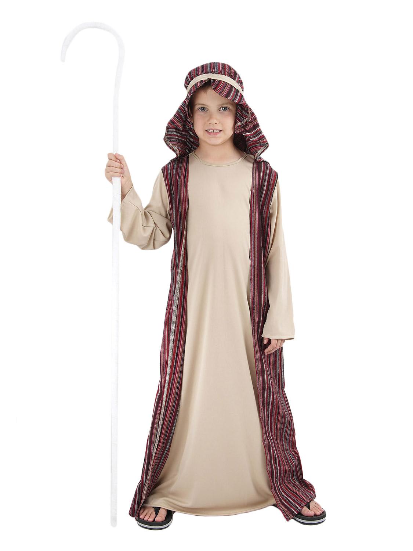 Kids Shepherd Joseph Innkeeper Nativity Costume Boys Christmas Fancy Dress
