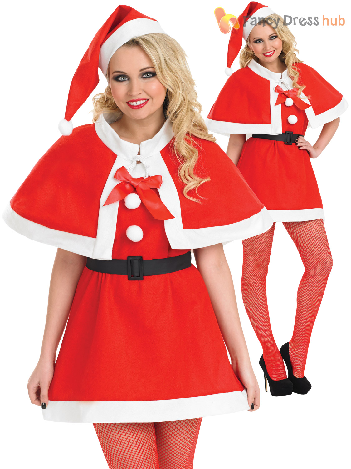 Ladies miss santa costume womens father christmas outfit