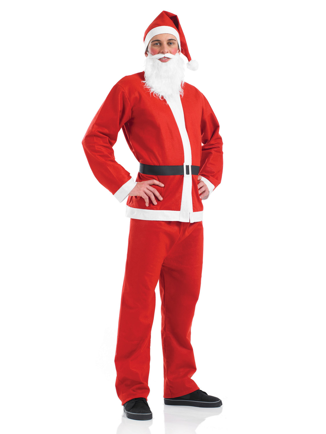 4 piece mens father christmas costume santa suit adult festive xmas image 2 solutioingenieria
