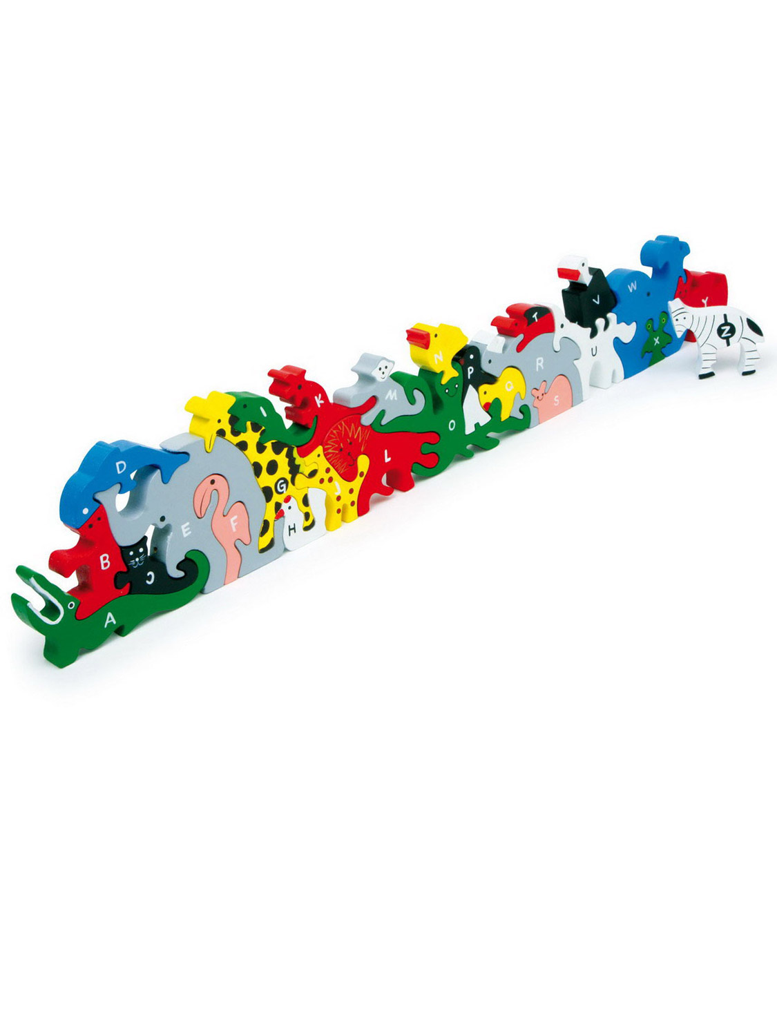 Deluxe-Chunky-3D-Standing-Jigsaw-Puzzle-Wooden-Animal-Alphabet-Letter-ABC-Toy thumbnail 4