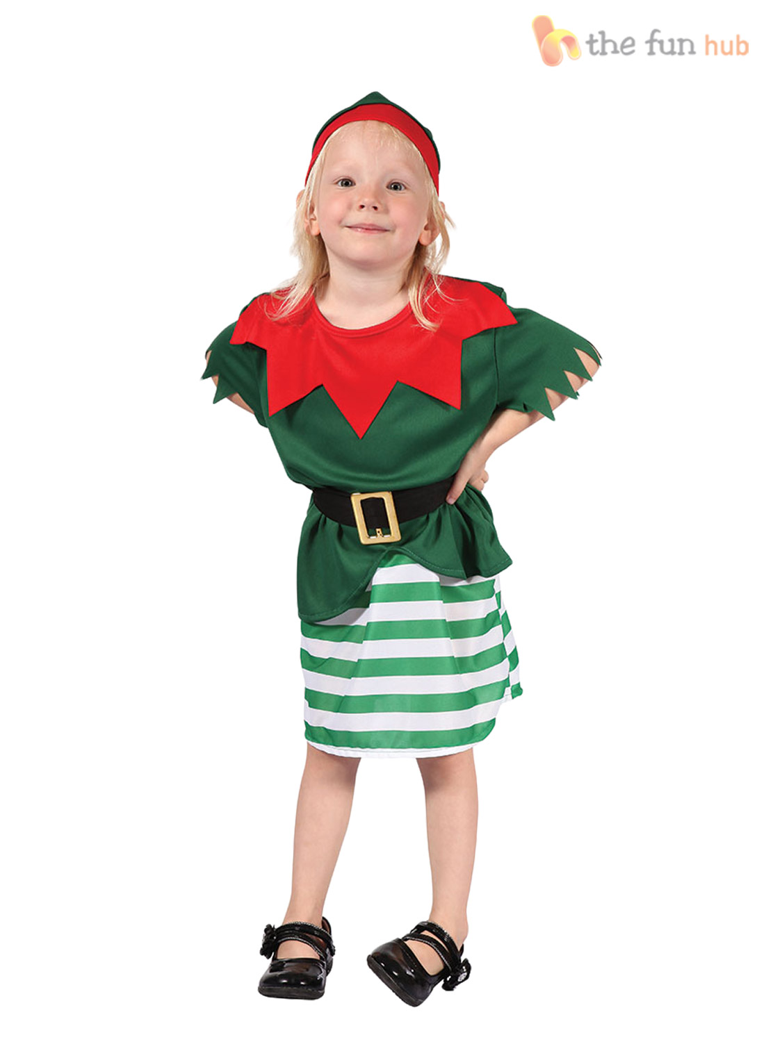 The Simply Santa Kids Costume said fits boys up to size It would barely fit a toddler. I could not get it to fit my 6 year old. Very displeased with the sizing.