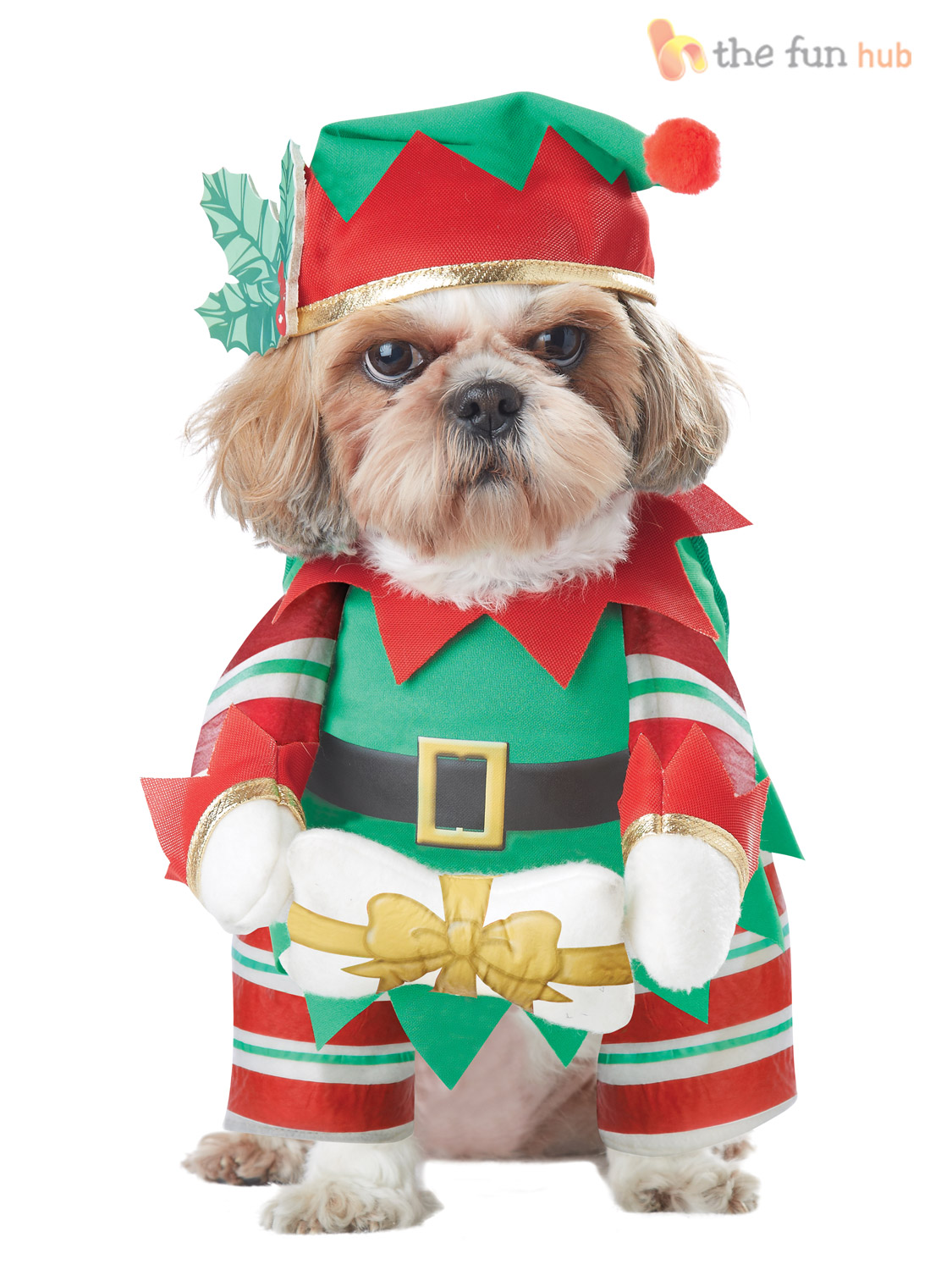 Dog Christmas Fancy Dress Costumes Santa Elf Funny Pet Cat Outfit ...
