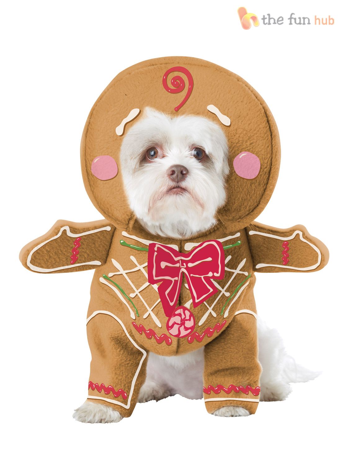 Pet Gingerbread Cookie Man Christmas Pup Dog Fancy Dress Costume