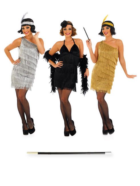 Ladies Flapper Dress & Cigarette Holder