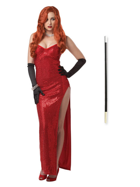 Ladies Jessica Rabbit Costume & Cigarette Holder