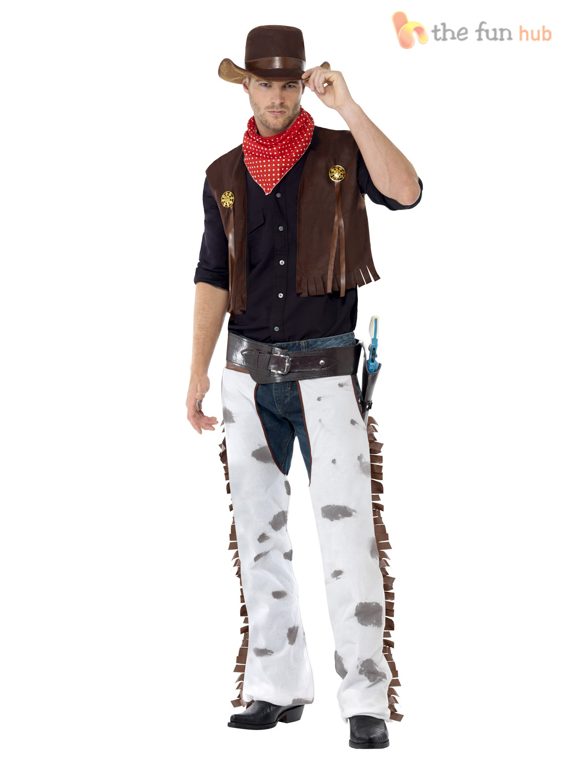 Mens-Cowboy-Western-Costume-Hat-Wild-West-Woody-  sc 1 st  eBay : mens cowboy fancy dress costumes  - Germanpascual.Com