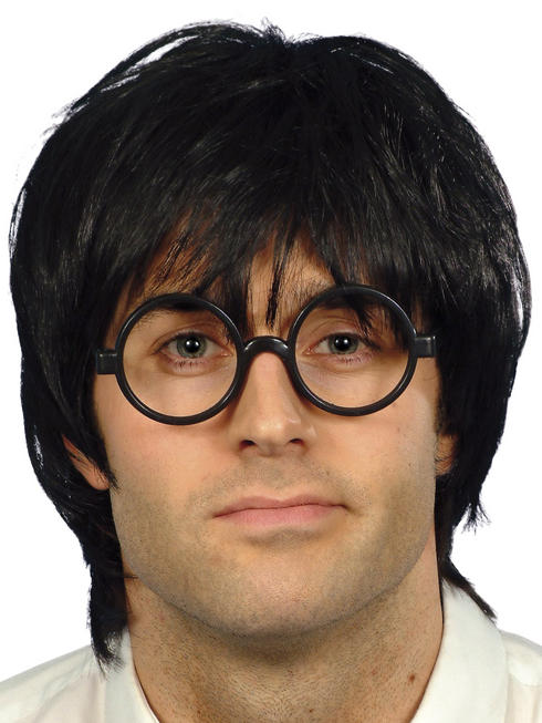 Men's Schoolboy Wig & Glasses Set