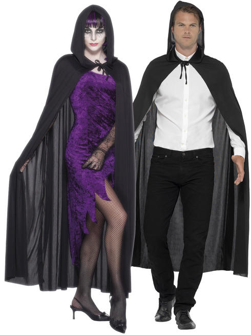Black Hooded Vampire Cape