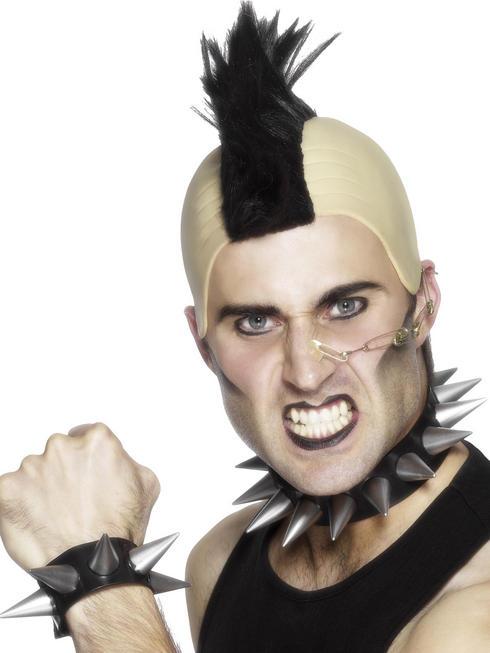 Men's Punk Choker And Wristband