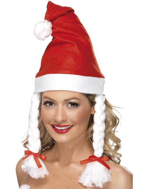Adult's Santa Hat With Plaits Hat