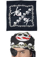 Skull & Crossbones Pirate Bandanna